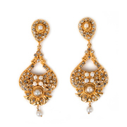 Gold Plated Pearl Earrings from online jewellery store TajPearl