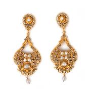 Gold Plated Pearl Earrings from online jewellery store TajPearl